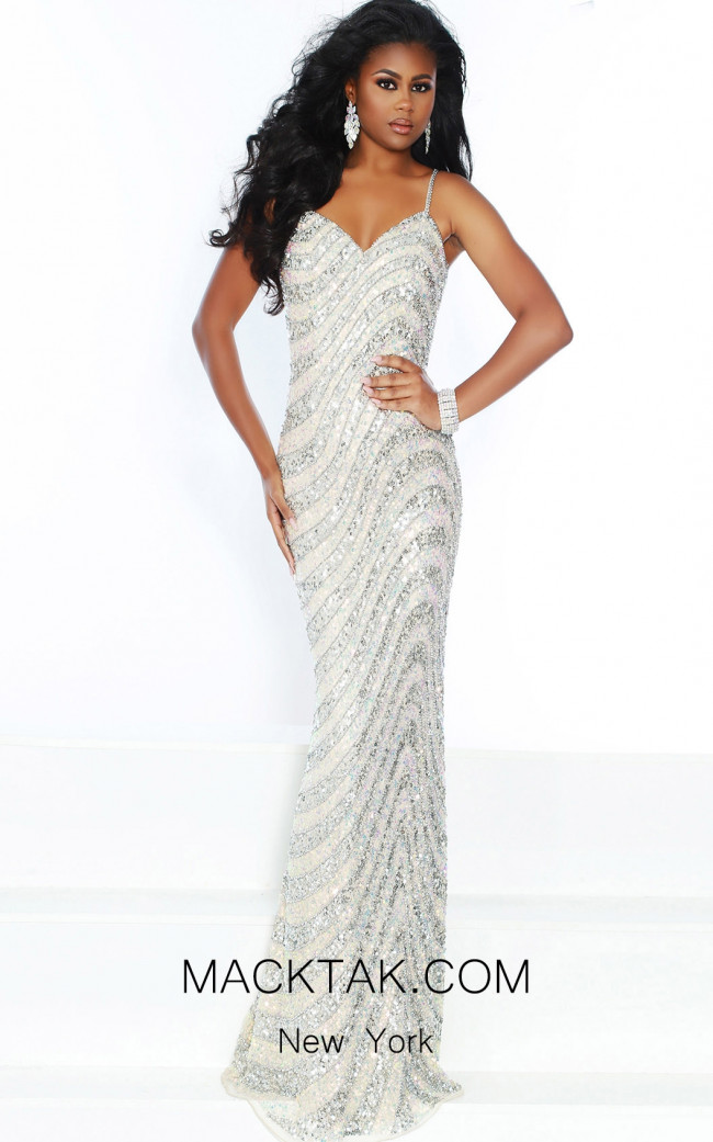 Lush by Jasz Couture 1516 Nude Front Prom Dress