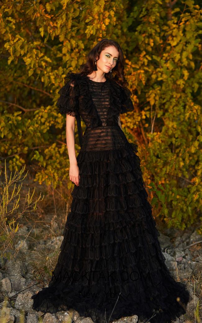 Miau By Clara Rotescu Anaisha Black Front Dress