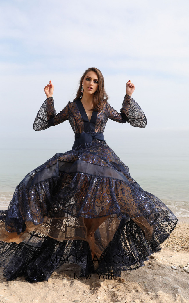 Miau By Clara Rotescu Azoca Black Front Dress