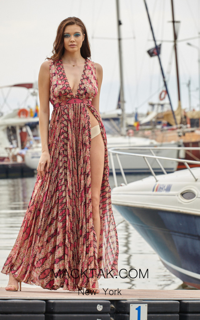 Miau By Clara Rotescu Carmen Pink Front Dress