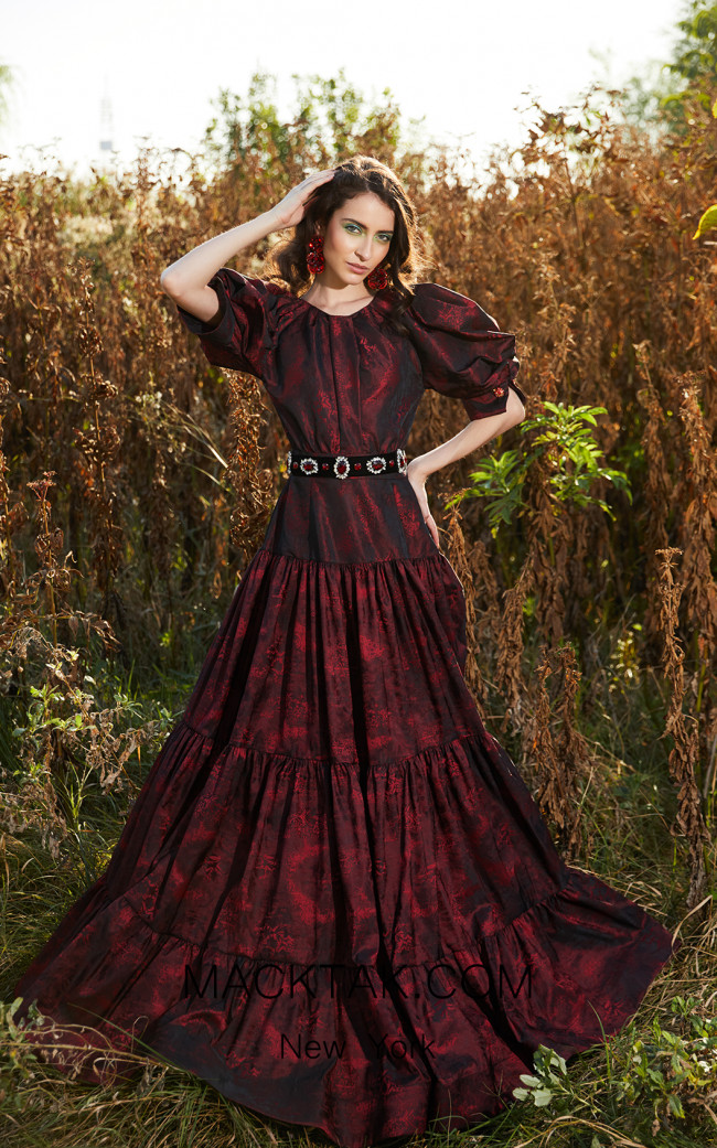 Miau By Clara Rotescu Farisha Bordeaux Front Dress