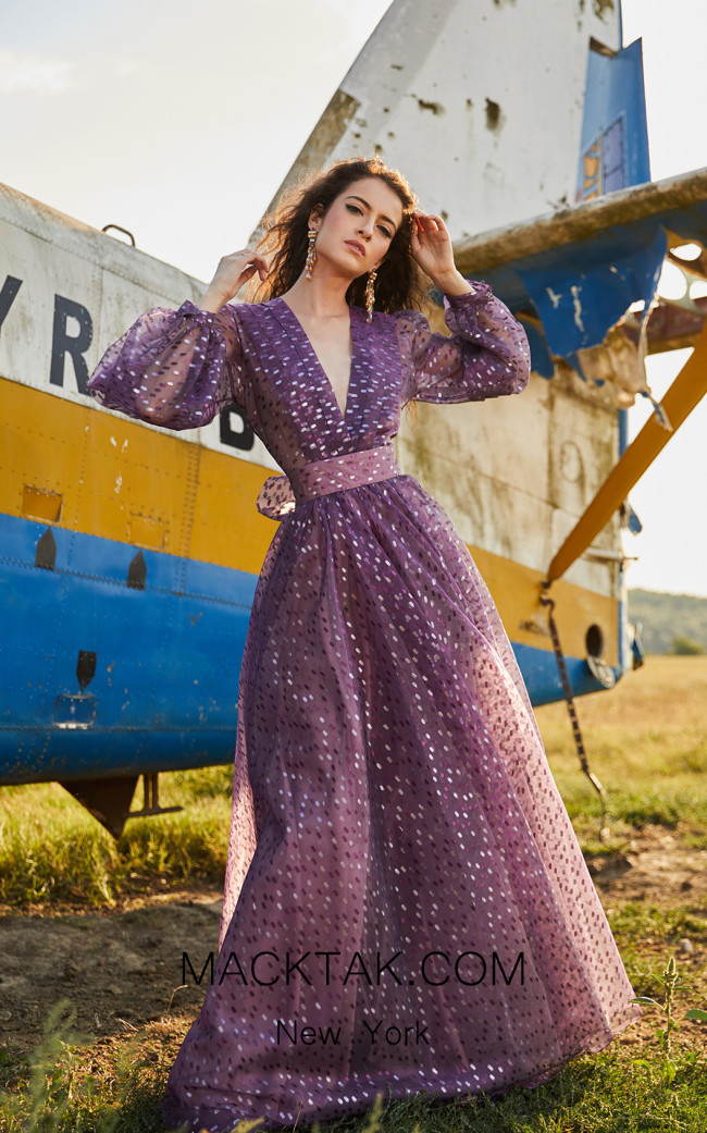 Miau By Clara Rotescu Jasmine Light Purple Front Dress