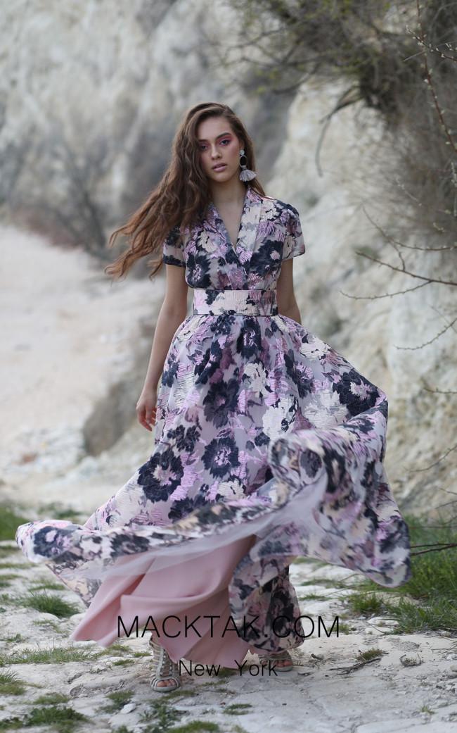 Miau By Clara Rotescu Keyra Purple Front Dress