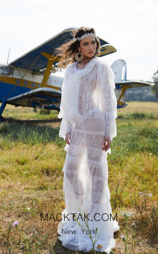 Miau By Clara Rotescu Leena White Front Dress