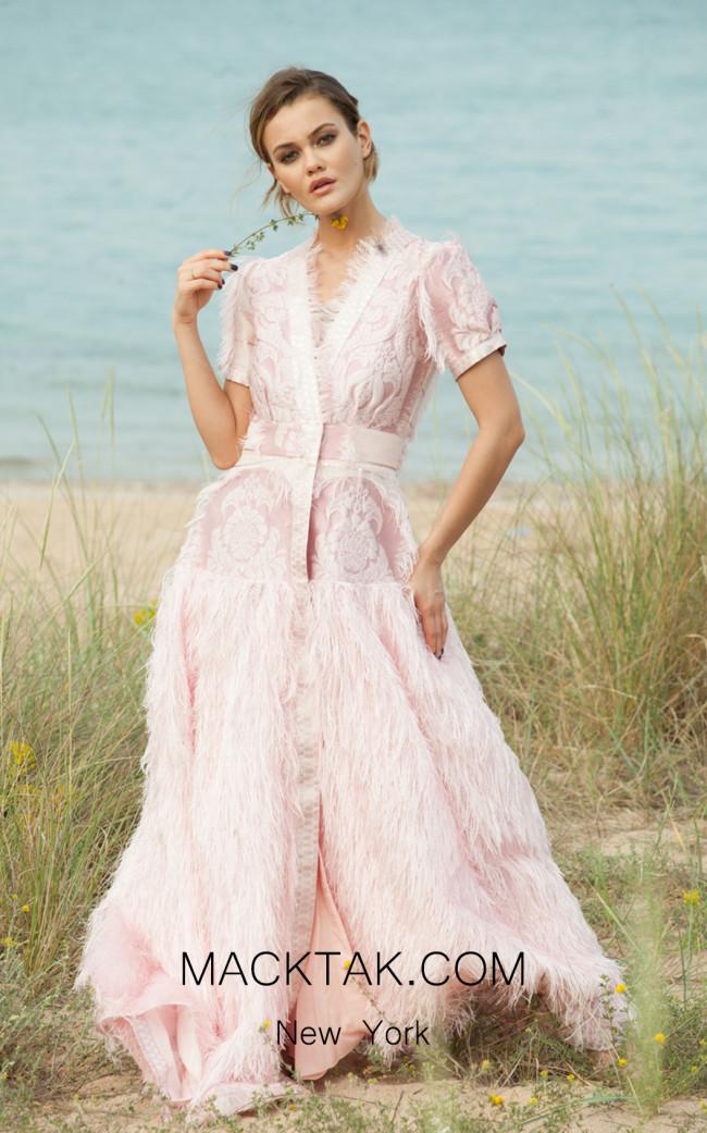 Miau By Clara Rotescu Mariposa Pink Front Dress