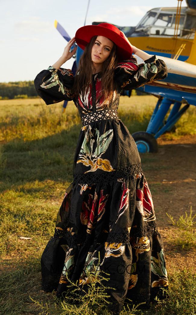 Miau By Clara Rotescu Omya Black Multi Dress