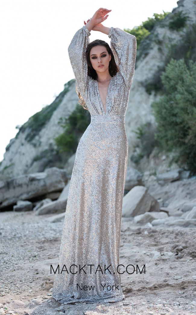 Miau By Clara Rotescu Stella Silver Front Dress
