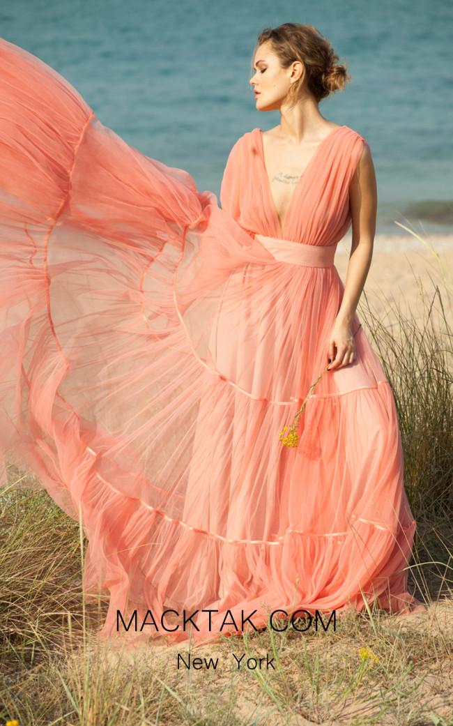 Miau By Clara Rotescu Subira Pink Front Dress