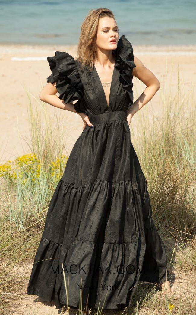 Miau By Clara Rotescu Wekesa Black Front Dress