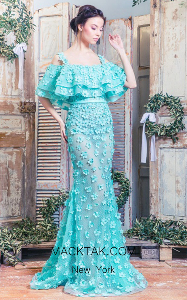 Missaki Couture MC3495 Aqua Front