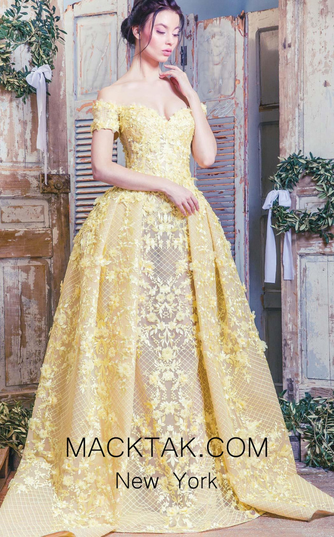 Missaki Couture 3496 Yellow Front