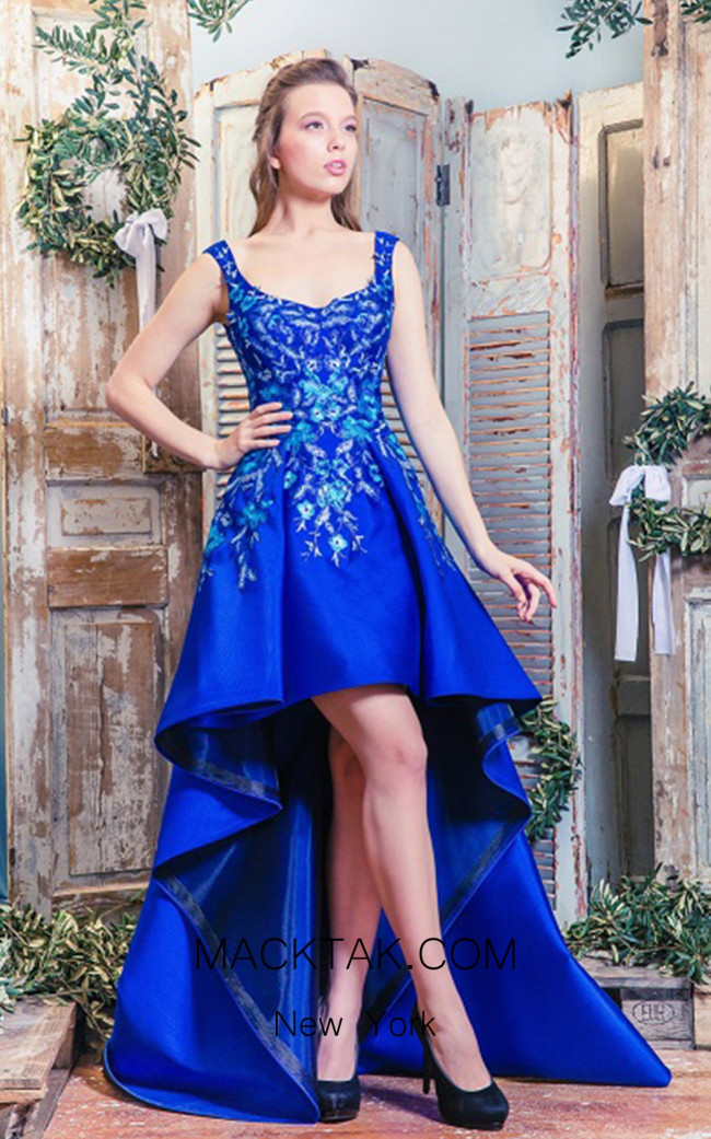 Missaki Couture MC3507 Royal Blue Dress