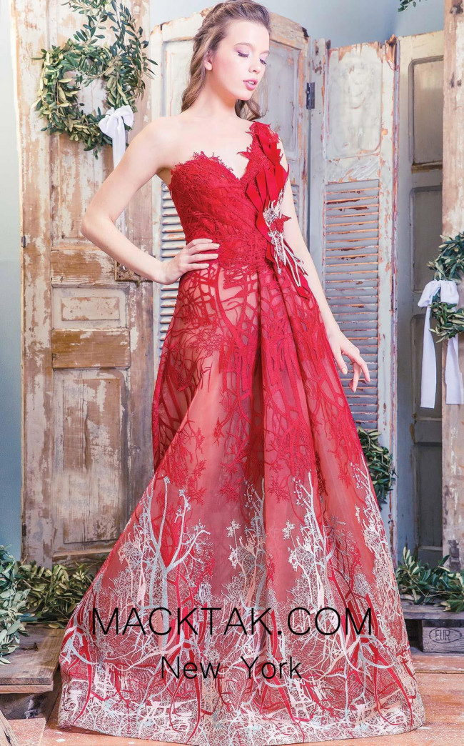Missaki Couture K3450 Red Front