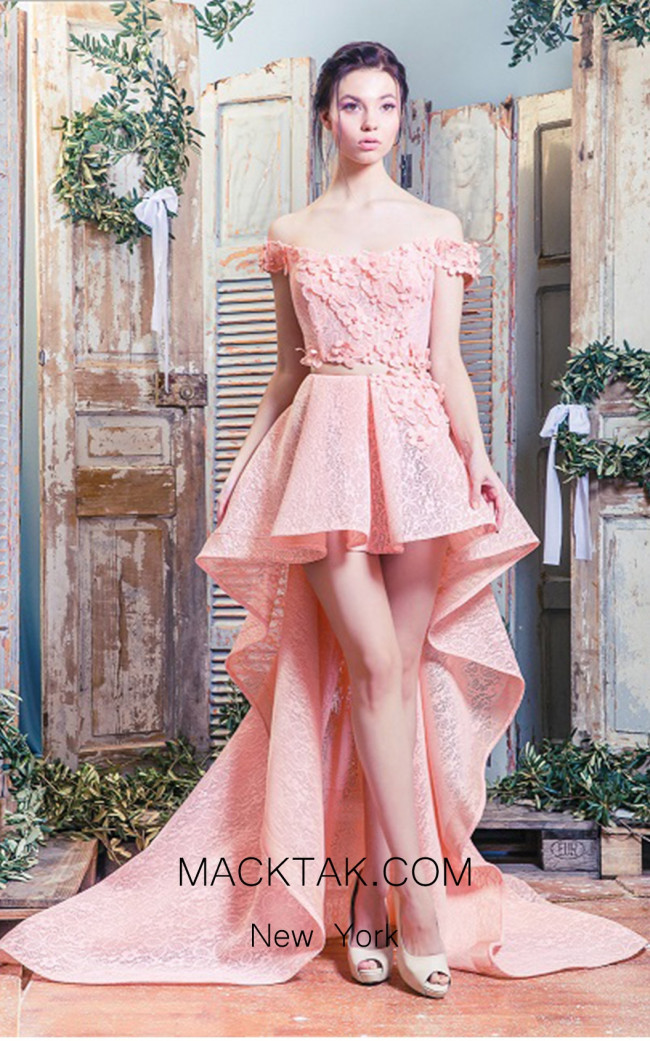 Missaki Couture MC3511 Salmon Dress