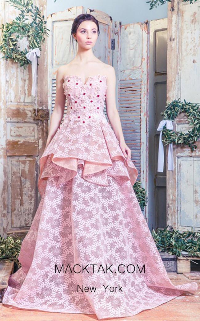 Missaki Couture MC3512 Salmon Dress