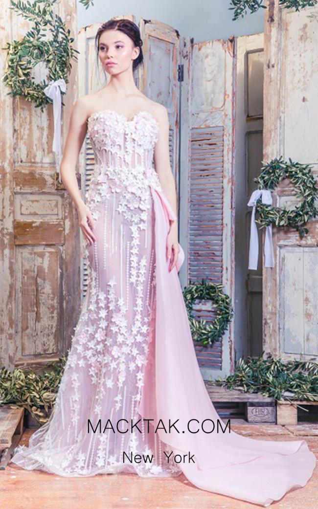 Missaki Couture MC3487 Pink Dress