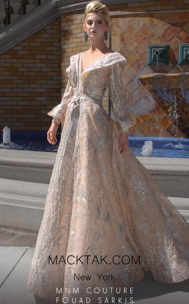 MNM 2522 Ivory Front Dress