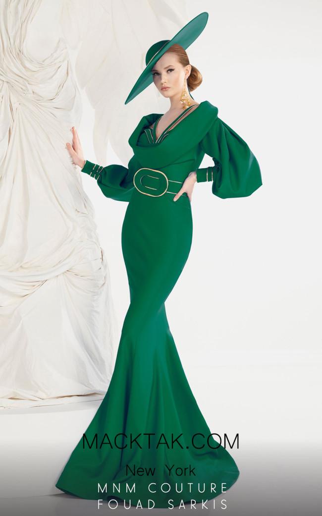 MNM 2572 Emerald Green Front Dress