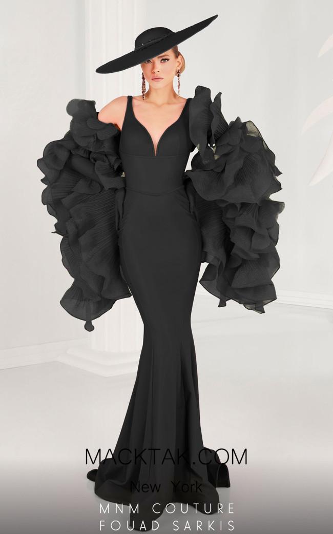 MNM 2575 Black Front Dress
