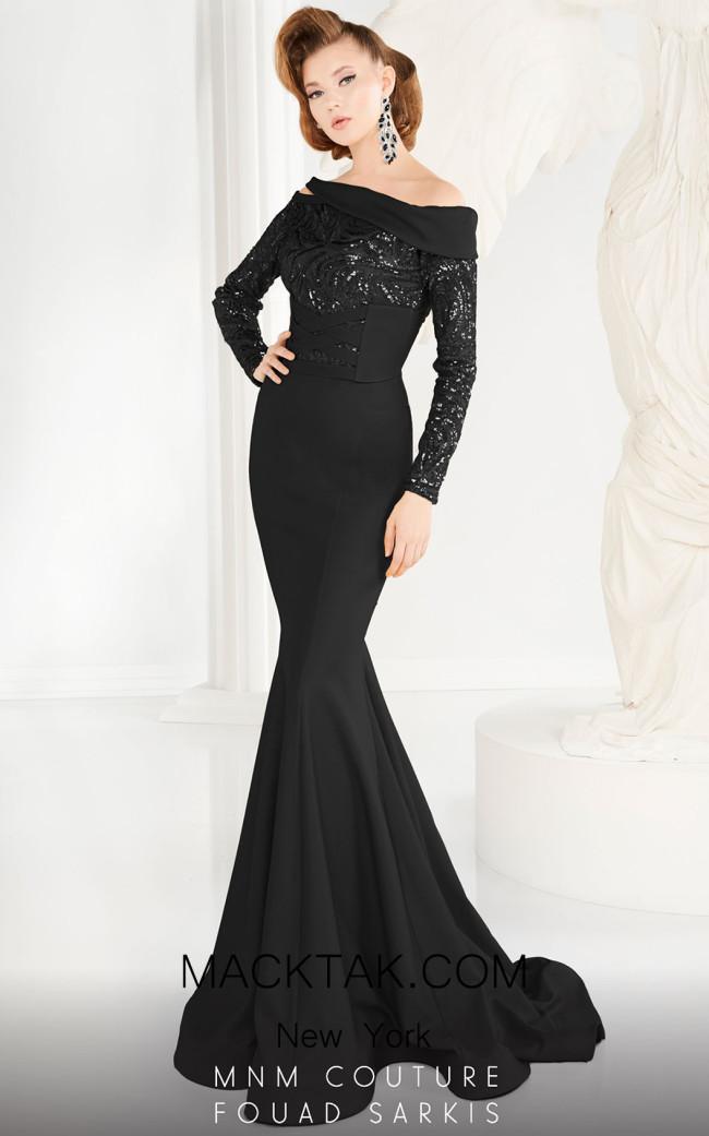 MNM 2578 Black Front Dress