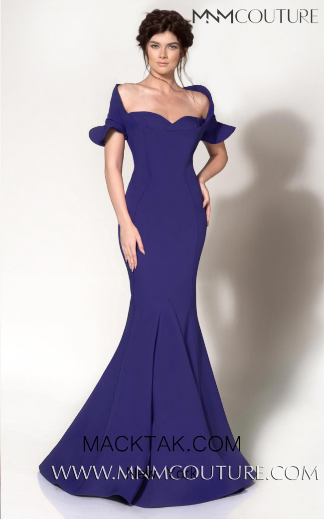 MNM Couture 2144A Blue Front Dress
