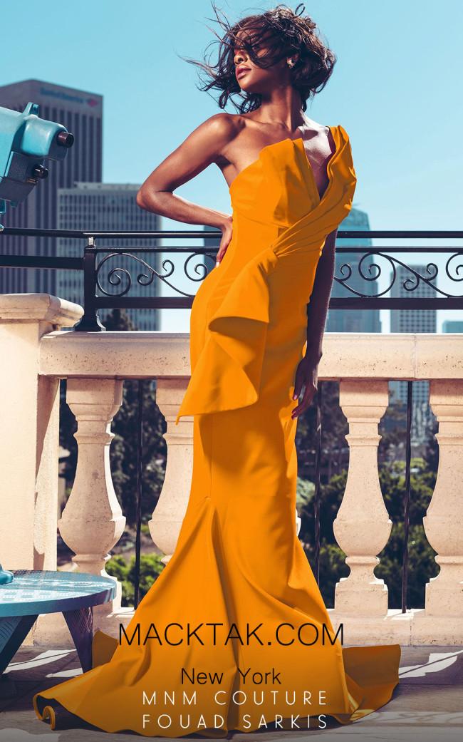 MNM Couture 2425A Mango Front Dress