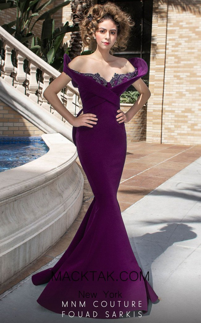 MNM Couture 2426A Cherry Front Dress