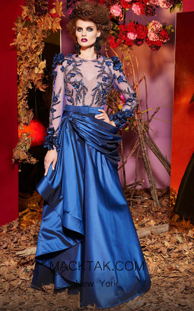 MNM Fouad Sarkis Blue Front 2431 Dress