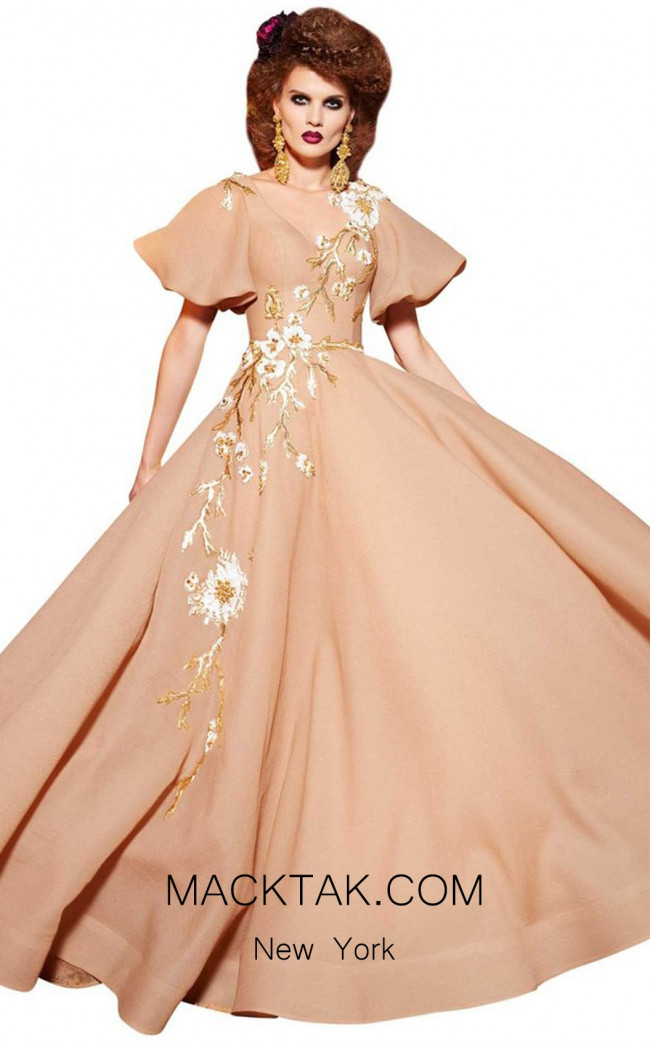 MNM Fouad Sarkis 2435 Beige Front Dress