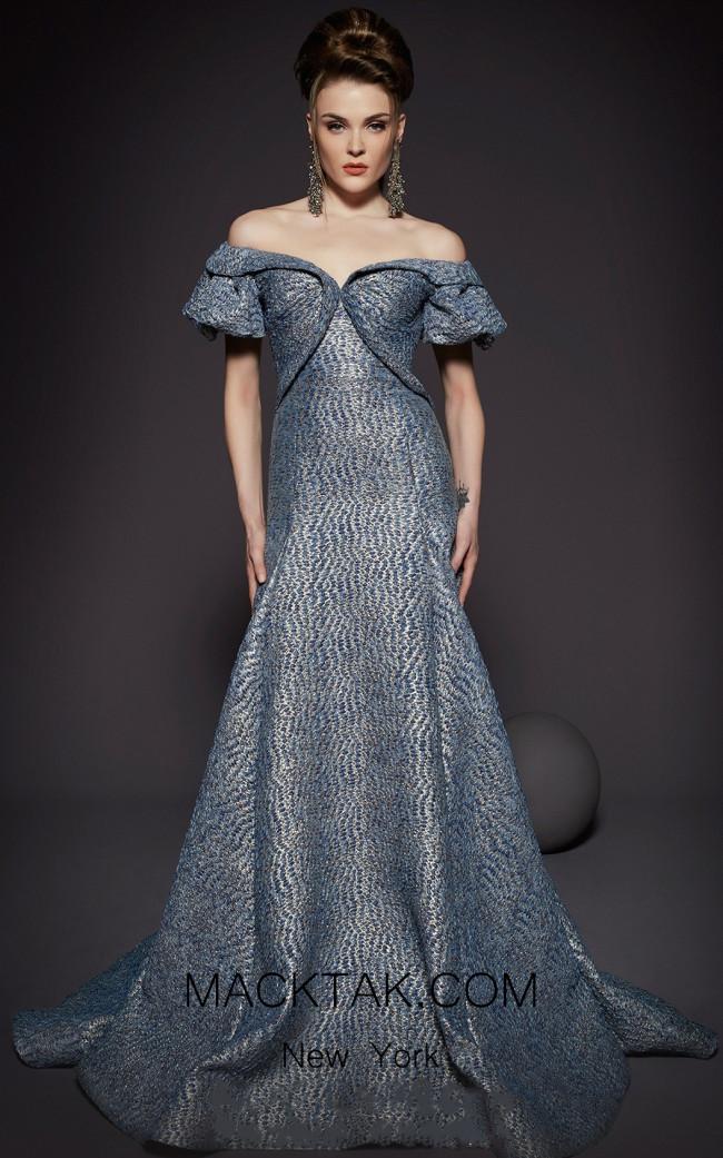 MNM Fouad Sarkis 2443 Blue Front Dress