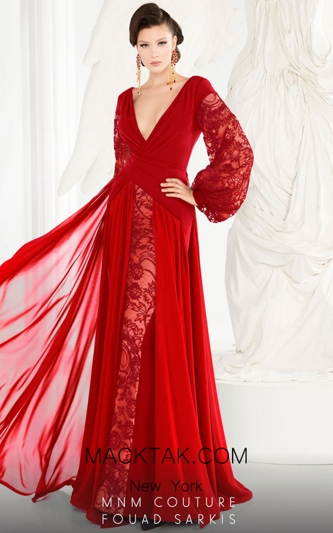MNM Couture 2551 Red Front Dress