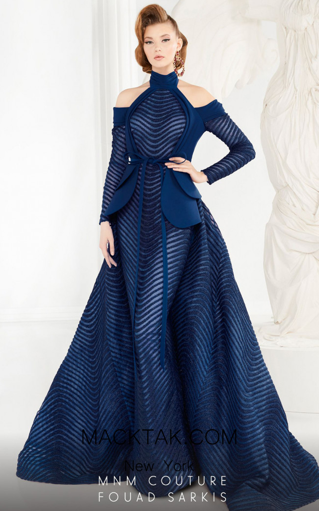 MNM Couture 2554 Blue Front Dress