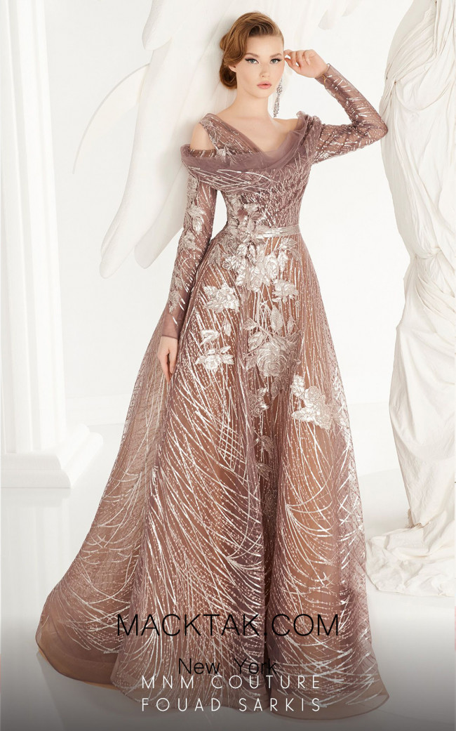 MNM Couture 2564 Beige Front Dress
