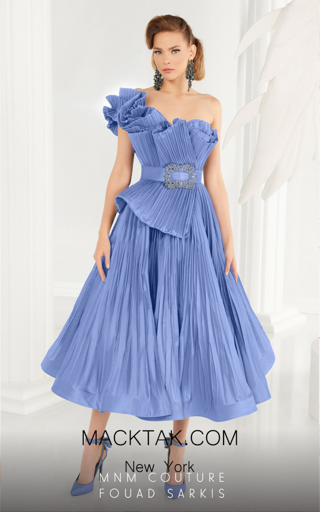MNM Couture 2565 Light Blue Front Dress