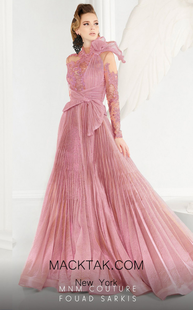 MNM Couture 2566 Pink Front Dress