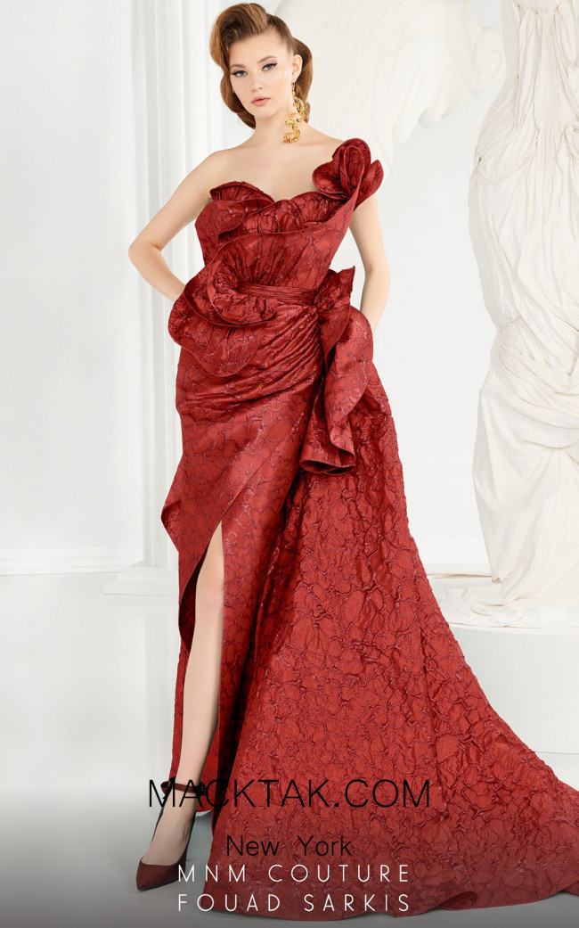 MNM Couture 2567 Red Front Dress