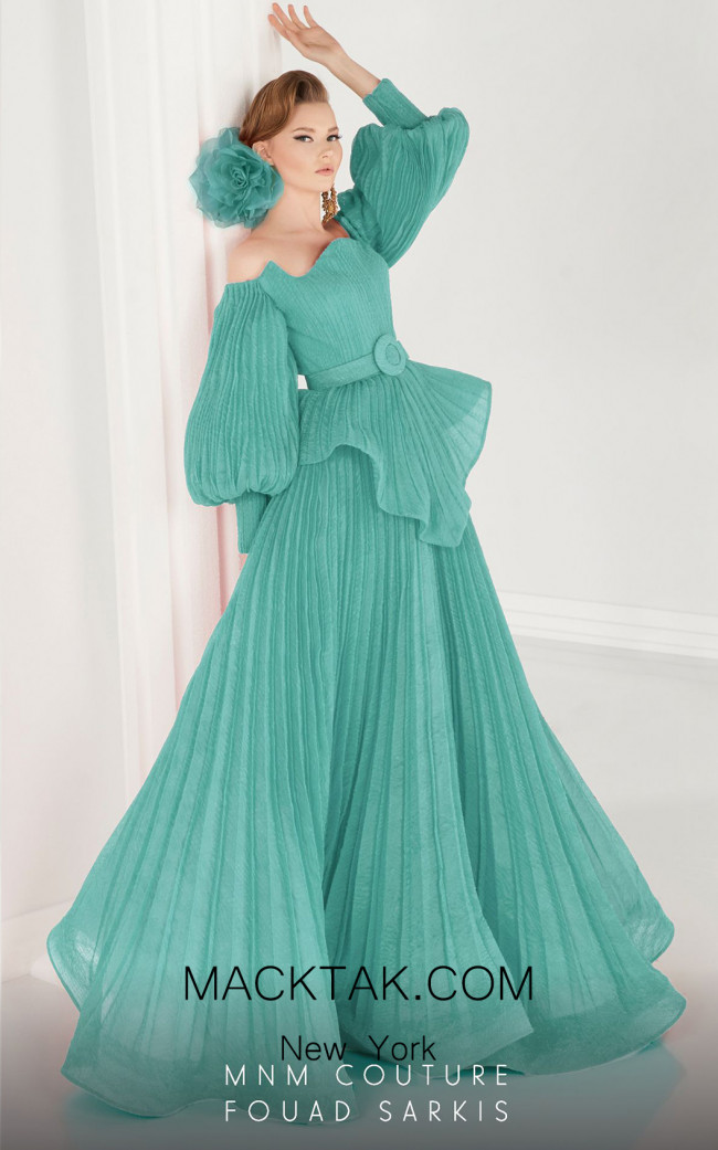 MNM Couture 2568 Mint Front Dress