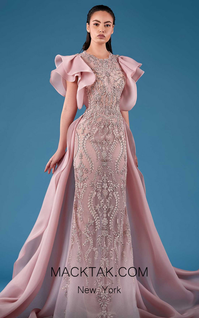 MNM Couture K3754 Pink Front Dress