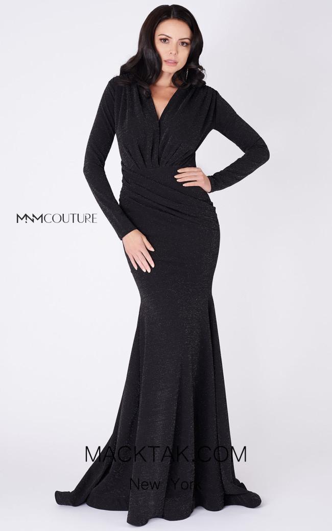 MNM Couture L0002C Black Front Dress