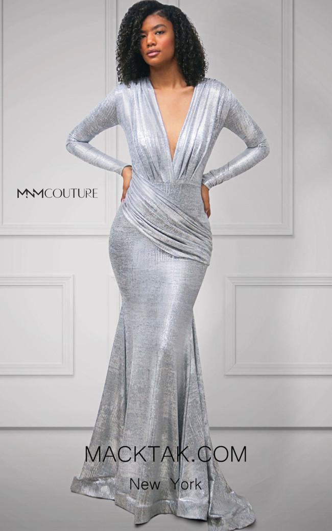 MNM Couture L0002D Silver Front Dress