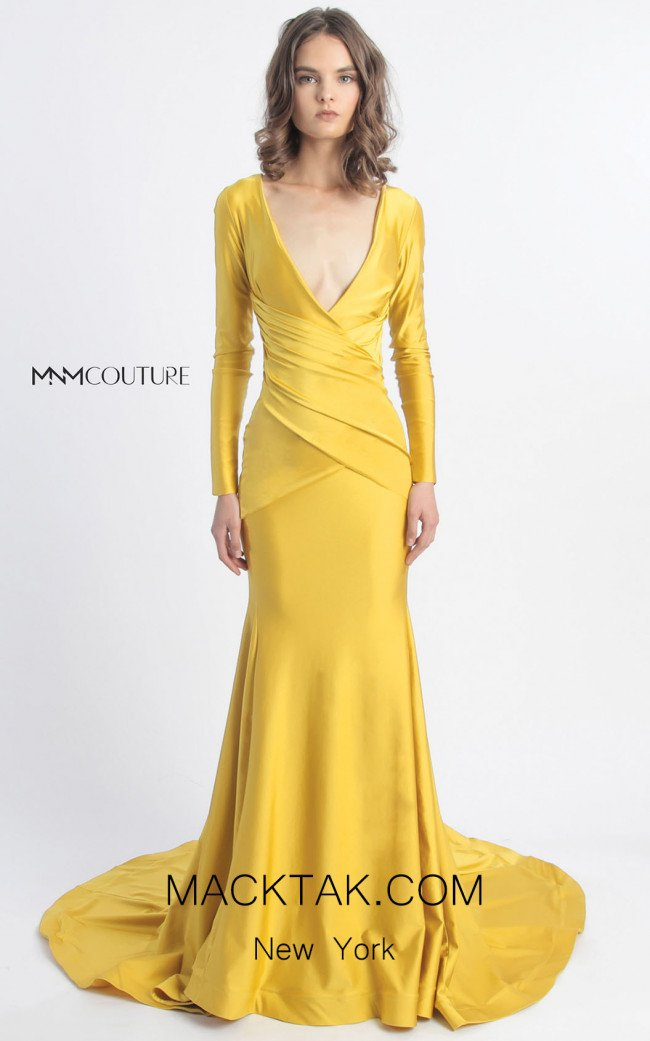 MNM Couture L0029 Yellow Front Dress