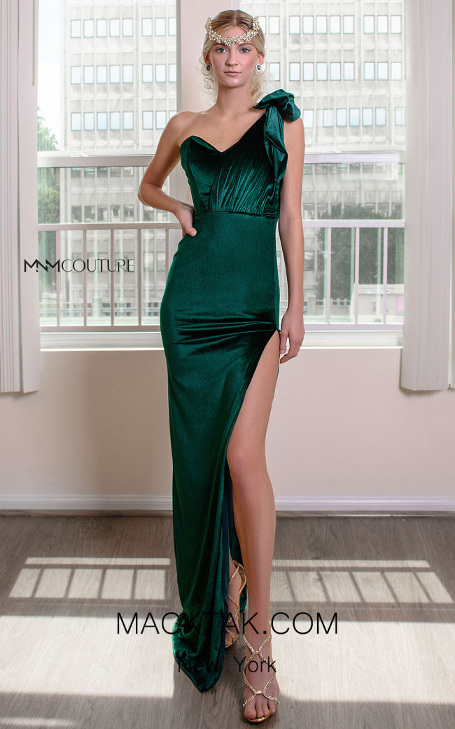 MNM Couture L0043 Green Front Dress