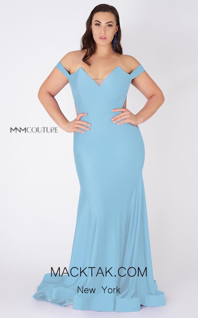 MNM Couture L0044 Light Blue Front Dress