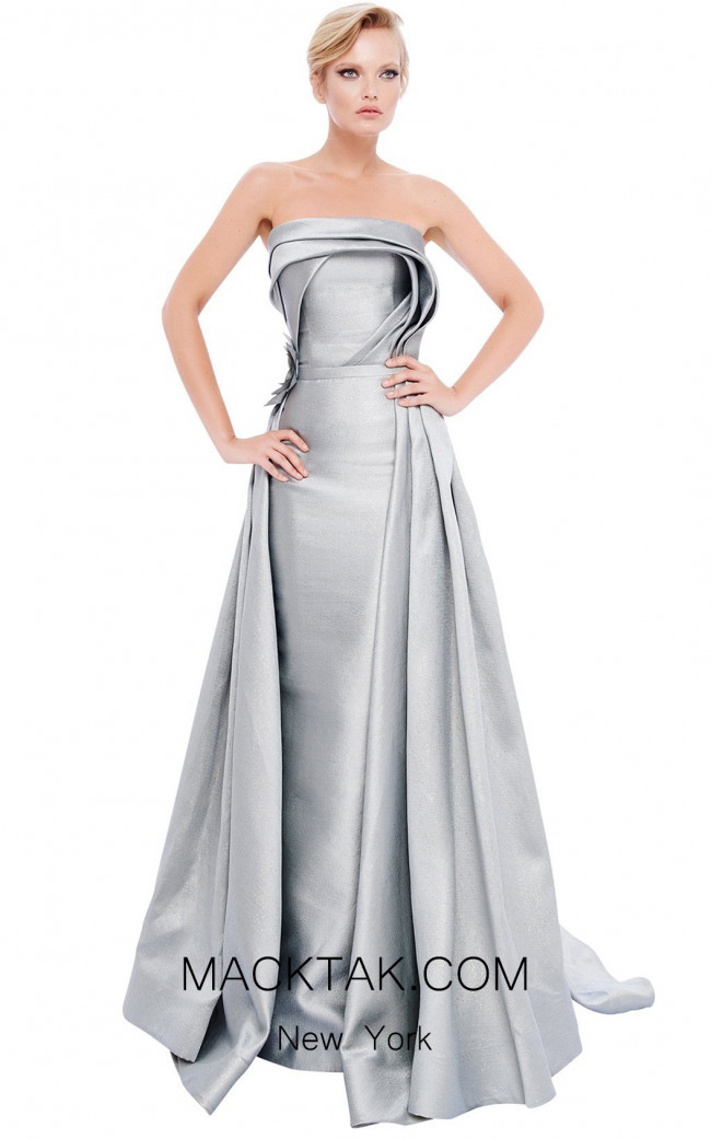 MNM N0204 Silver Front Evening Dress