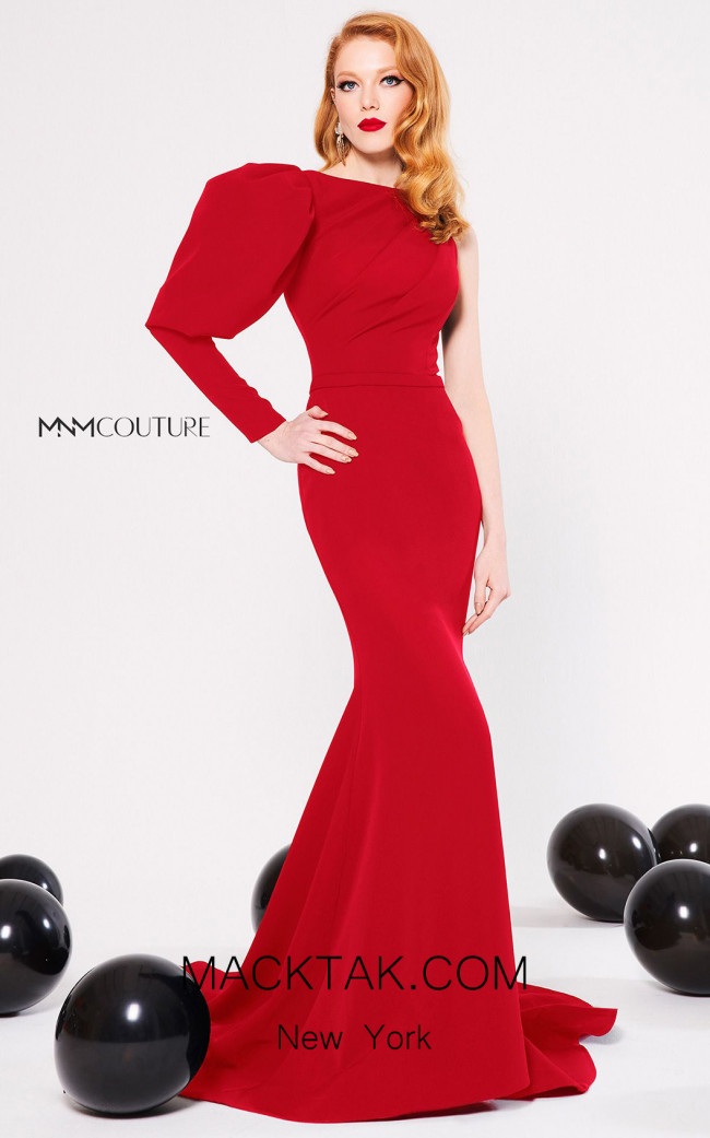 MNM Couture N0313 Red Front Dress