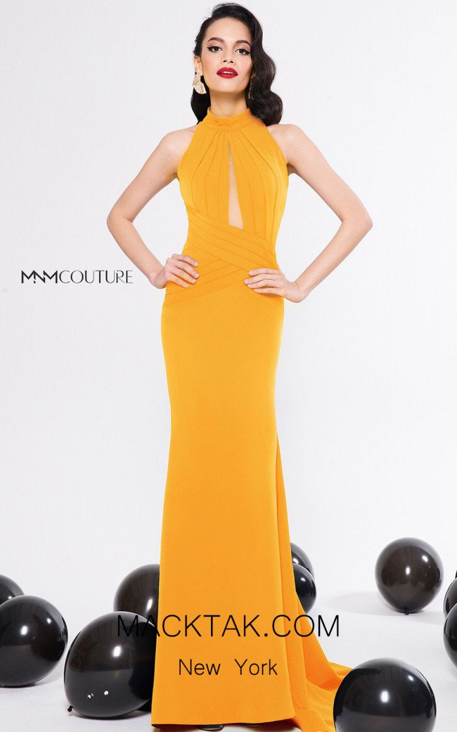 MNM Couture N0314 Mango Front Dress
