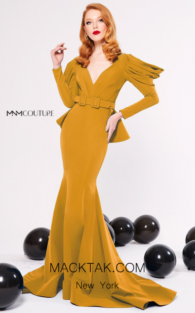 MNM Couture N0315 Mango Front Dress