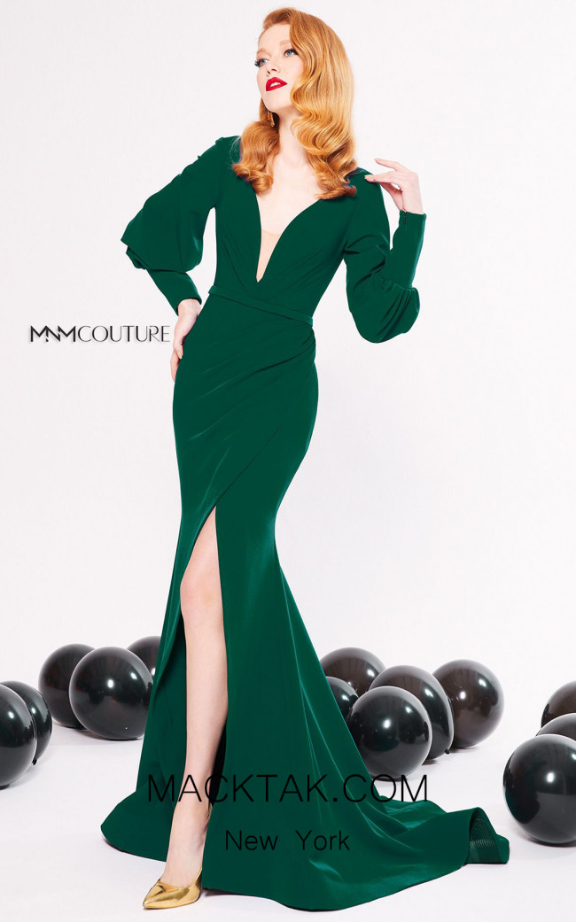 MNM Couture N0319 Green Front Dress