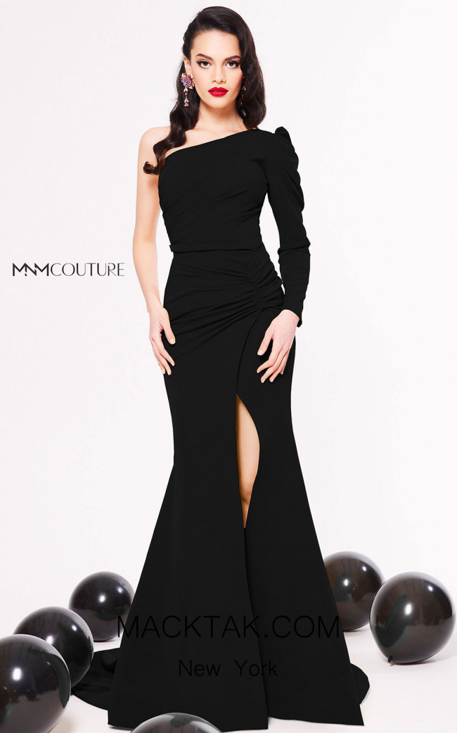 MNM Couture N0323 Black Front Dress