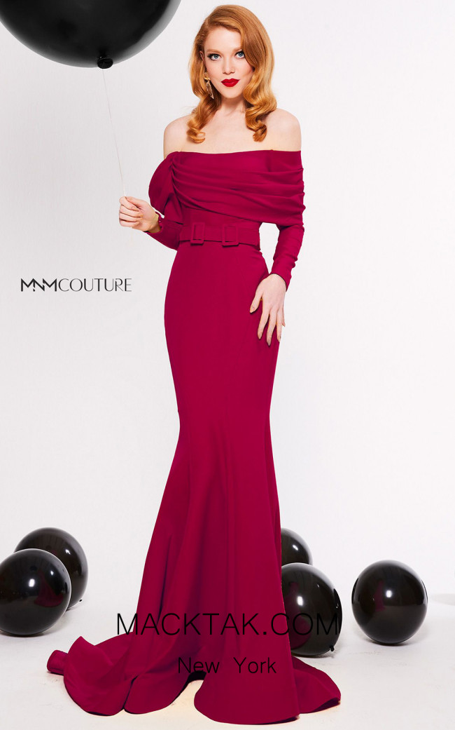 MNM Couture N0324 Cherry Front Dress